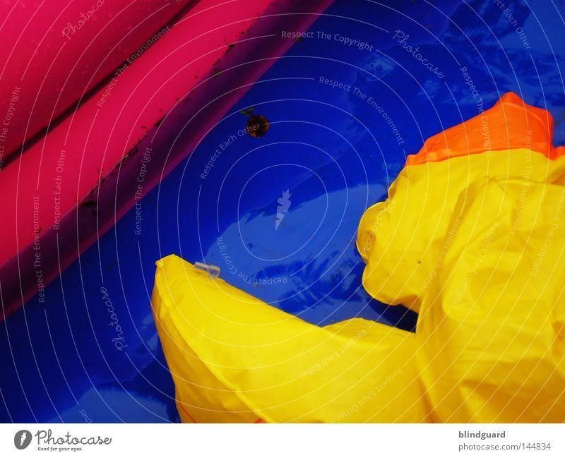 End Of Summer Wasser rosa spritzen blau Verzerrung fließen frisch Sommer nass feucht Flüssigkeit Biegung Bogen Spielen Freude zyan mehrfarbig Erfrischung