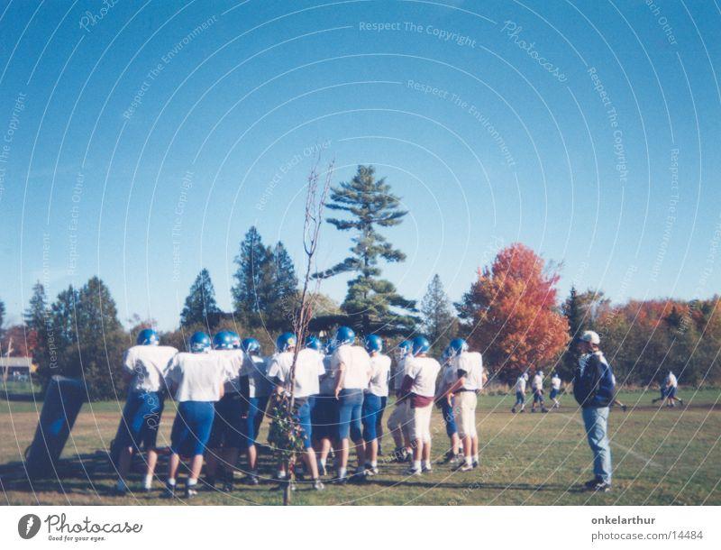 Football Mann blau Sport Spielen Sportmannschaft Hinterteil Amerika Sport-Training knackig