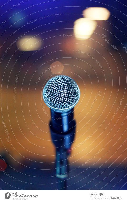 Show Must Go On. Kunst Jugendkultur Veranstaltung Musik Konzert Open Air Bühne Sänger Band Musiker ästhetisch Mikrofon Mikrofonkabel Büro Bühnenbeleuchtung