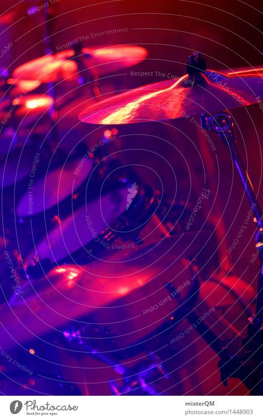 Life is a Party II Kunst Kunstwerk ästhetisch Schlagzeug Schlagzeuger Musikinstrument Instrumentalmusik Messinstrument Show Bühne Bühnenbeleuchtung blau rot