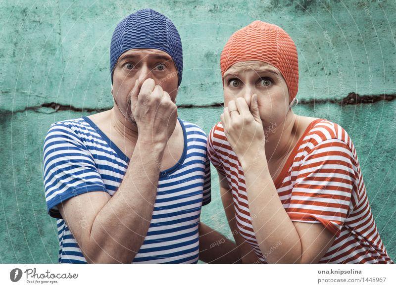 pack die badehose ein... Sommer Sommerurlaub Sonnenbad Wassersport Schwimmen & Baden Schwimmbad Frau Erwachsene Mann Freundschaft Paar 2 Mensch 30-45 Jahre
