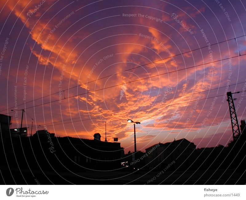 Vor Sonnenaufgang Himmel Wolken Club