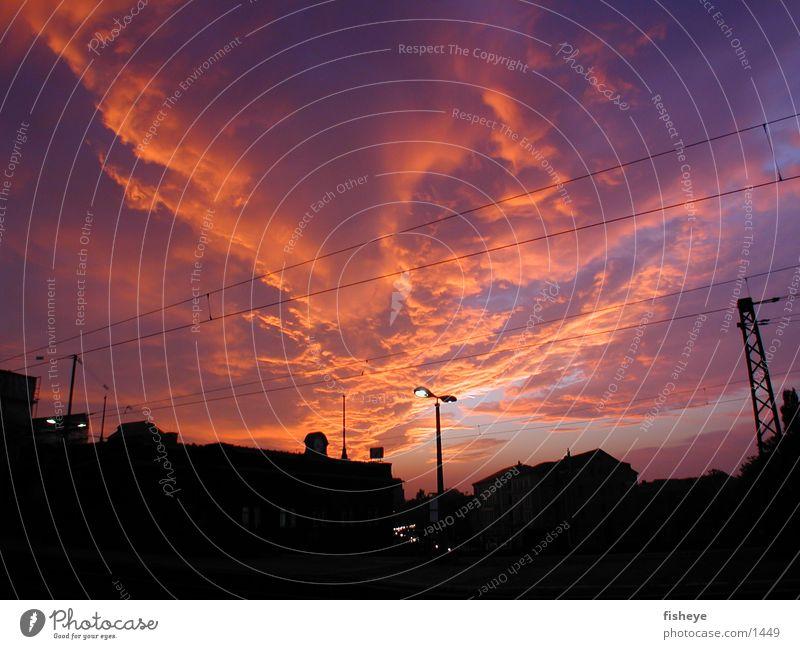Vor Sonnenaufgang Wolken Club Himmel Licht