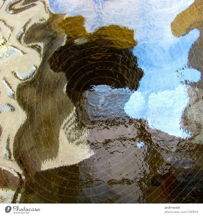 Der Unbekannte Mensch Farbe Gefühle Denken hell maskulin Perspektive frei Wandel & Veränderung entdecken Grenze Geister u. Gespenster Momentaufnahme Surrealismus Inspiration Charakter