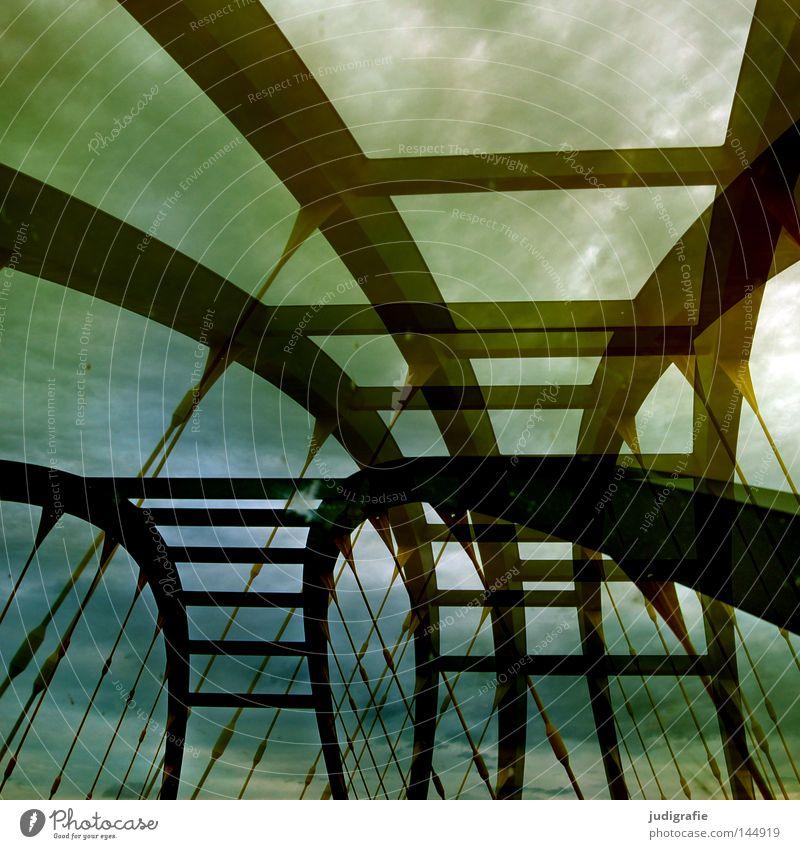 901 | Brücken schlagen Himmel Wolken Autobahn fahren Ferien & Urlaub & Reisen KFZ Konstruktion Verkehr Straßenverkehr Wege & Pfade Richtung mehrfachbelichtung