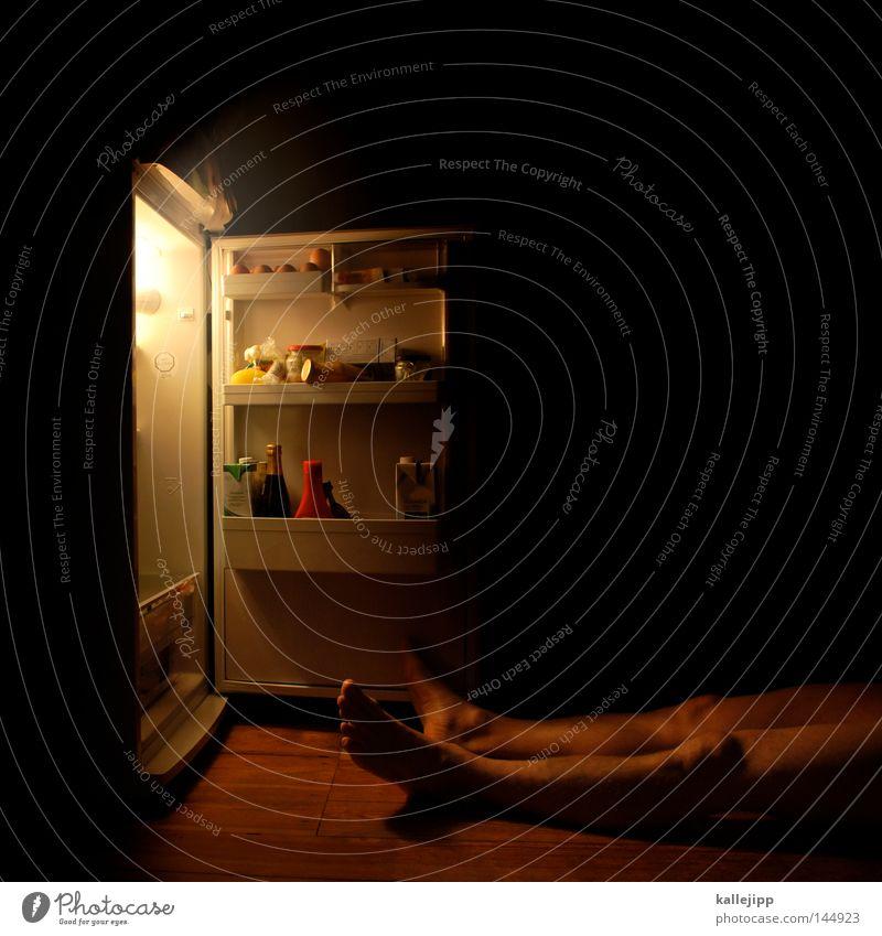 eiszeit Mensch Mann nackt Haus dunkel kalt Wärme Tod Beine Lebensmittel Wohnung Eis Raum Häusliches Leben frisch Ordnung