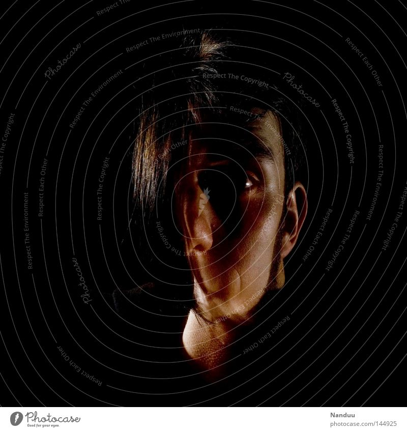 does.not.fine Freakshow Gesicht Doppelbelichtung Langzeitbelichtung schwarz dunkel Mensch Schizophrenie unentschlossen skurril seltsam außergewöhnlich gruselig
