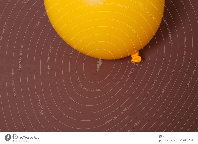 Gelb auf Braun Farbe Freude gelb Feste & Feiern braun Party Freizeit & Hobby Dekoration & Verzierung Geburtstag Fröhlichkeit ästhetisch einfach Luftballon