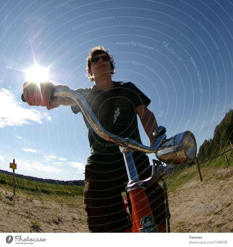 Easy Rider Freude Zufriedenheit Fahrrad Coolness Funsport kool supercool badass swalbard bling und wir fahrn fahrn fahrn auf der Autobahn seit Stunden