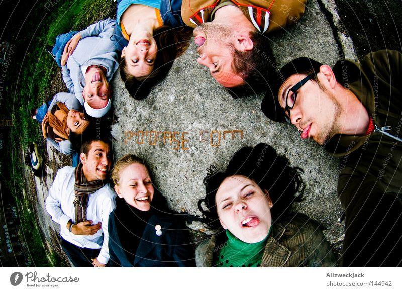 PDM 08 | leck mich! Mensch Freude Gesicht Menschengruppe Freundschaft Beruf Fotograf Fischauge