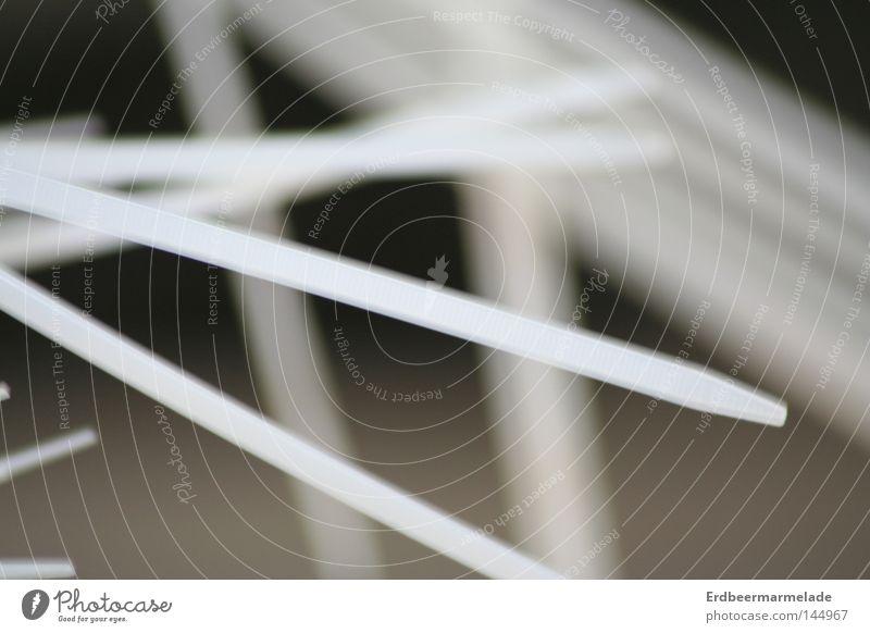 Der Kabelbinder lang weiß Unschärfe Elektrizität Makroaufnahme Nahaufnahme Elektrisches Gerät Technik & Technologie Handwerk hell