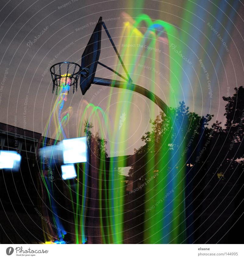 ::LIGHT:DUNK:: Basketball Ballsport Spielfeld Korb Spielen National Basketball Association hell Licht Funsport Sport