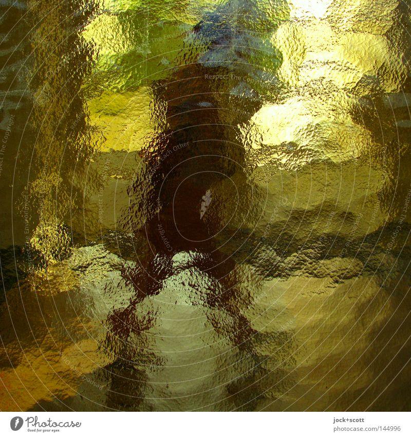 verweilen im vorübergehen Glas beobachten entdecken hell Gefühle Erfahrung Farbe Ordnung Perspektive Wandel & Veränderung Einkaufspassage Durchgang