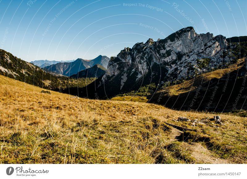 Rotwand Natur Ferien & Urlaub & Reisen blau grün Landschaft Einsamkeit ruhig Ferne Berge u. Gebirge Umwelt Herbst Wege & Pfade natürlich Felsen Freizeit & Hobby