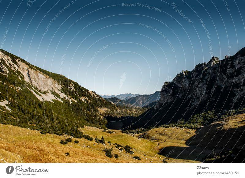 Rotwand Freizeit & Hobby Tourismus Ausflug wandern Umwelt Natur Landschaft Himmel Herbst Schönes Wetter Alpen Berge u. Gebirge Gipfel gigantisch nachhaltig