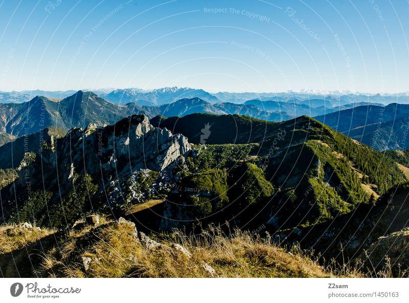 Weit und breit kein Schnee Himmel Natur Ferien & Urlaub & Reisen blau grün Erholung Landschaft ruhig Berge u. Gebirge Umwelt Herbst natürlich Freizeit & Hobby