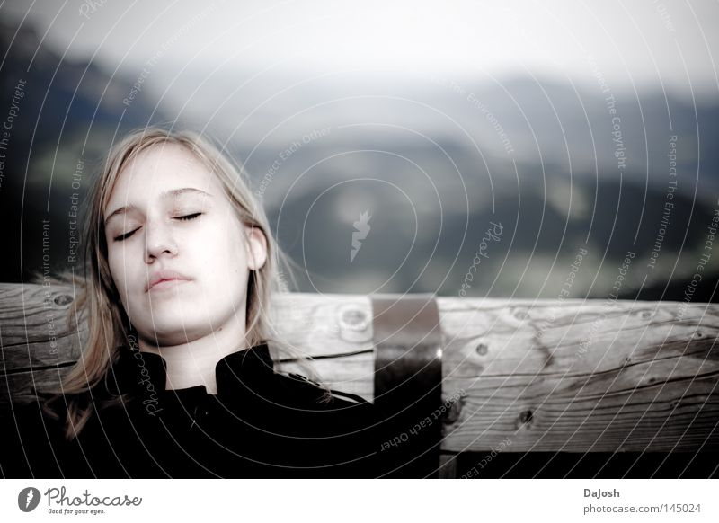 Träume ruhig Ferne Erholung Berge u. Gebirge träumen schlafen Frieden Norwegen friedlich