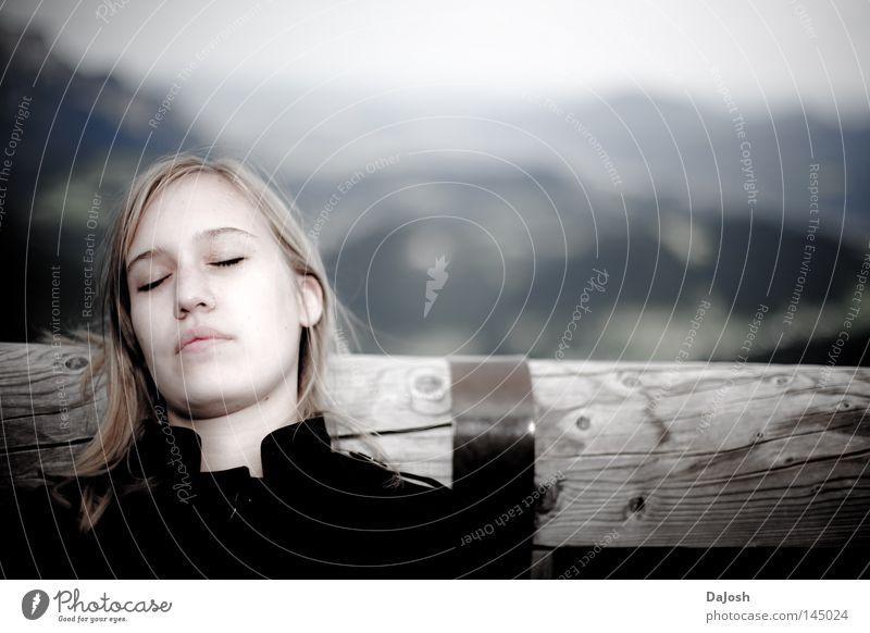Träume ruhig schlafen Berge u. Gebirge Erholung Frieden Ferne träumen Norwegen friedlich