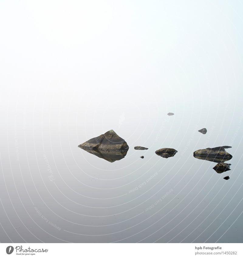 Asnen Nebelstimmung Himmel Natur schön Sommer Wasser weiß Landschaft Herbst Küste Kunst Freiheit Schwimmen & Baden See Wetter Wellen
