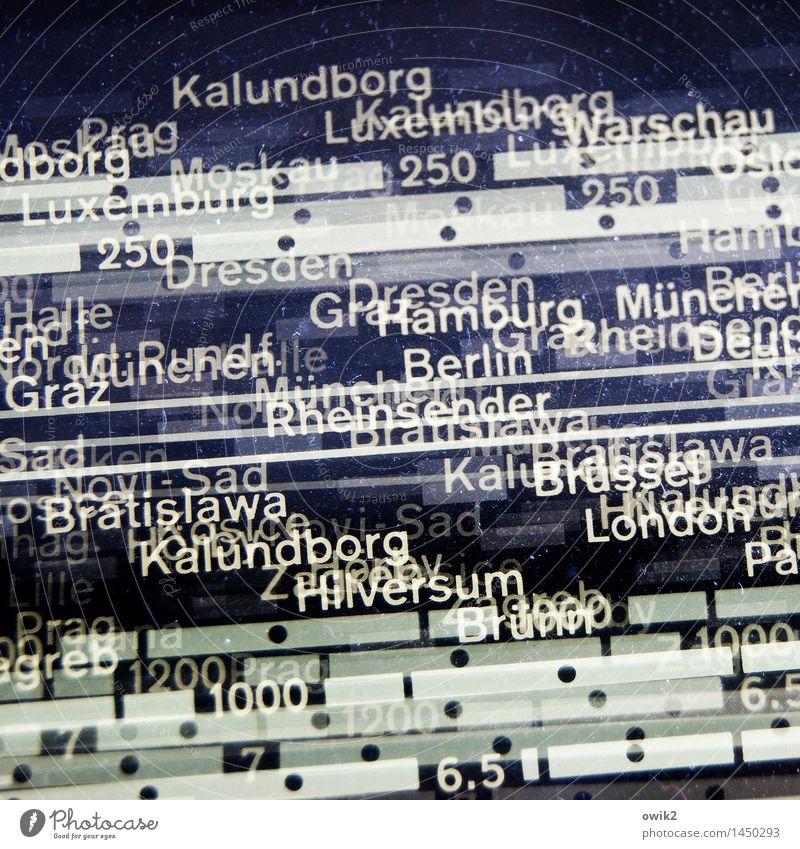 Störsender Radiogerät Skala Sender Name Stadt Technik & Technologie Unterhaltungselektronik Glas Schriftzeichen Ziffern & Zahlen historisch retro viele verrückt