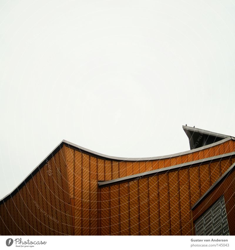 Harmonie III Haus gelb Berlin Wand Gebäude Metall Kunst Haut Design gold Fassade modern Kultur Konzert Quadrat