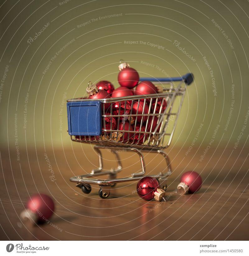 Weihnachts-Einkauf Weihnachten & Advent Freude Glück Lifestyle Feste & Feiern Raum Dekoration & Verzierung Ernährung kaufen Geld Gastronomie Weihnachtsbaum