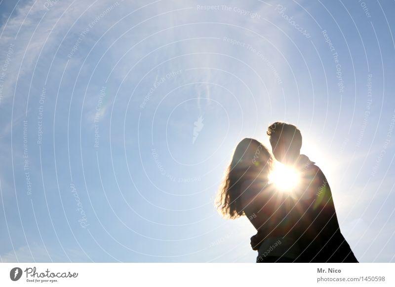 sonne,sommer,sonnenschein Ferien & Urlaub & Reisen Frau Erwachsene Mann Paar Partner 2 Mensch Umwelt Wolkenloser Himmel Sommer Schönes Wetter kurzhaarig
