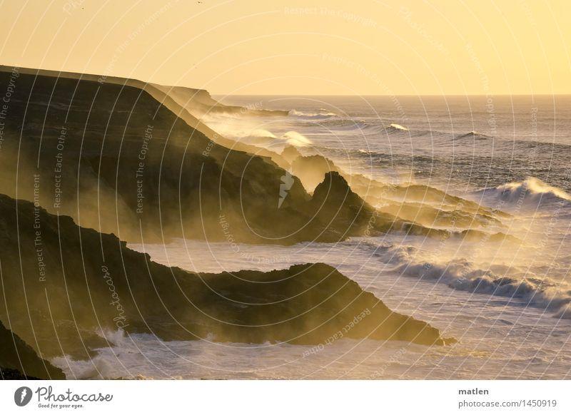 Seeluft Himmel Natur blau Wasser weiß Meer Landschaft Winter dunkel Küste braun Felsen Horizont Wetter Luft Wellen