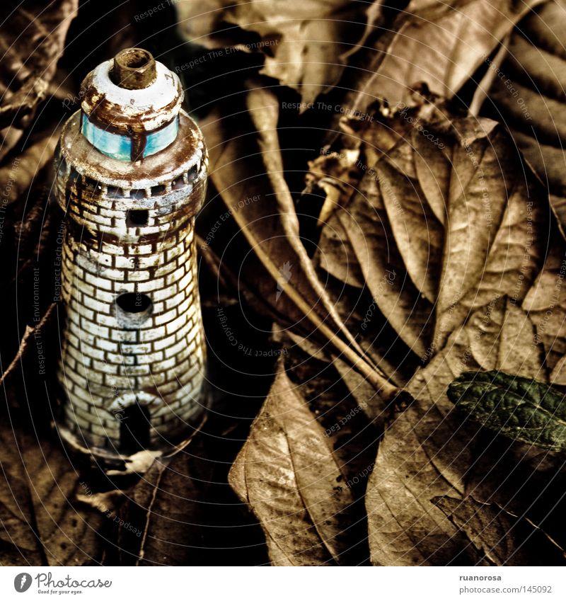 Blatt Lampe Herbst Boden Turm Gastronomie Schmuck Leuchtturm Miniatur Leitfaden