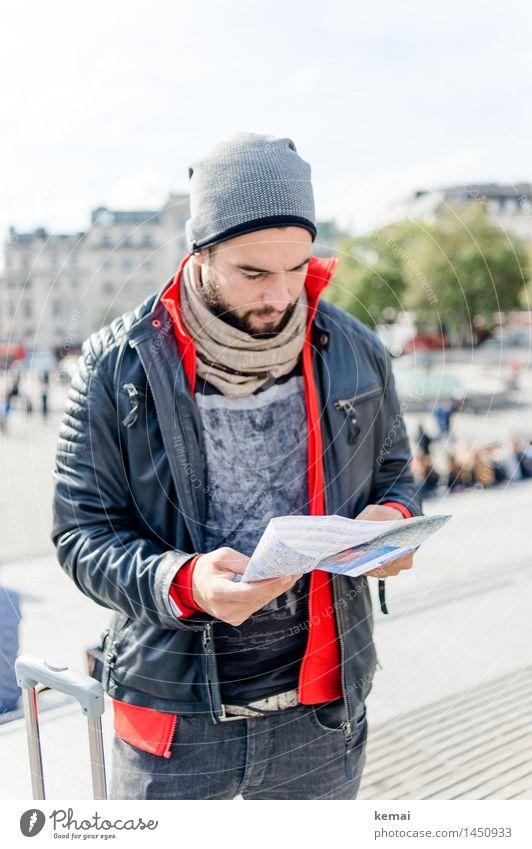 The London tourist II Lifestyle Stil Ferien & Urlaub & Reisen Tourismus Sightseeing Städtereise Mensch maskulin Junger Mann Jugendliche Erwachsene Leben Körper