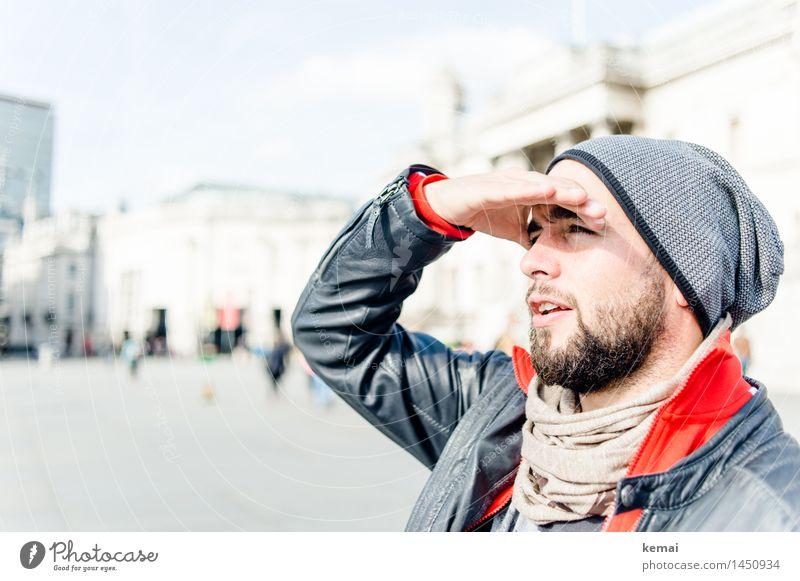 The London tourist Mensch Ferien & Urlaub & Reisen Jugendliche schön Hand Junger Mann 18-30 Jahre Erwachsene Leben Stil Lifestyle Kopf maskulin Tourismus