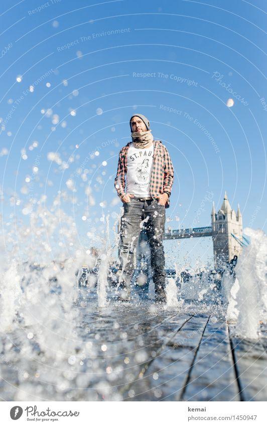 Waterman (1) Mensch Jugendliche Wasser Junger Mann 18-30 Jahre Erwachsene Leben Stil Lifestyle maskulin Zufriedenheit Tourismus Körper stehen Wassertropfen nass