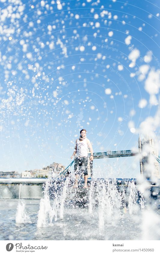 Waterman (6) Mensch Ferien & Urlaub & Reisen Jugendliche blau Wasser Junger Mann Freude 18-30 Jahre Erwachsene Leben Lifestyle außergewöhnlich maskulin