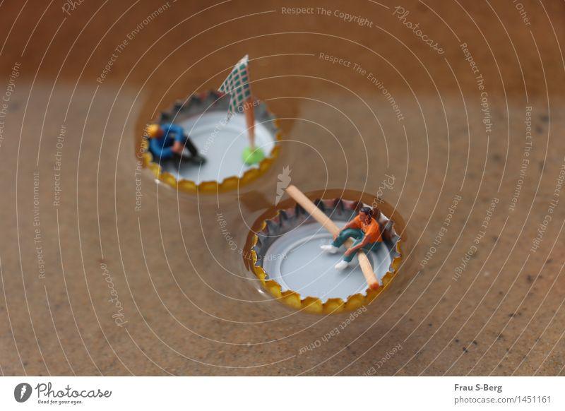 Erholung auf hoher See Segeln Rudern Ruderboot Segelboot Miniatur Bewegung fahren Fitness genießen Schwimmen & Baden Spielen frei Freundlichkeit Fröhlichkeit