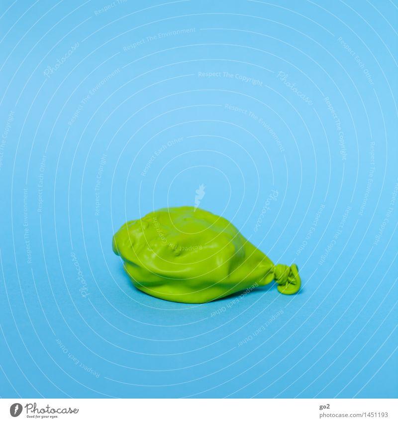 Sie fühlen sich platt? blau grün Farbe Freude Senior Feste & Feiern Party Dekoration & Verzierung Geburtstag ästhetisch einfach Vergänglichkeit Luftballon