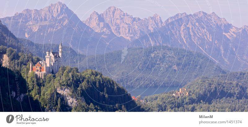 Märchenschloss Ferien & Urlaub & Reisen Tourismus Berge u. Gebirge Architektur Natur Landschaft Burg oder Schloss Sehenswürdigkeit Wahrzeichen ästhetisch