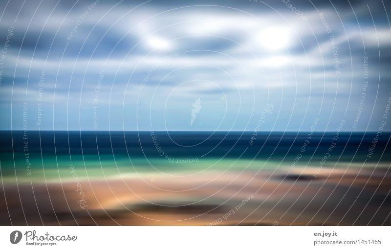 in my dreams Ferien & Urlaub & Reisen Ferne Freiheit Sommerurlaub Strand Meer Umwelt Natur Landschaft Urelemente Himmel Wolken Horizont Sonne Sonnenlicht