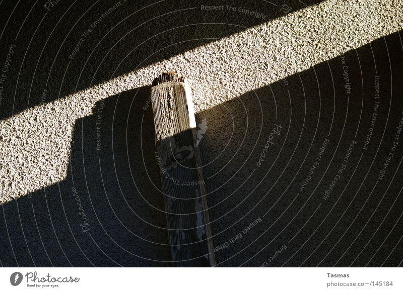 Lichteinfall Zufriedenheit Holz Streifen Langeweile Wand Raufasertapete Körnung Nahaufnahme Makroaufnahme Schatten Lichterscheinung