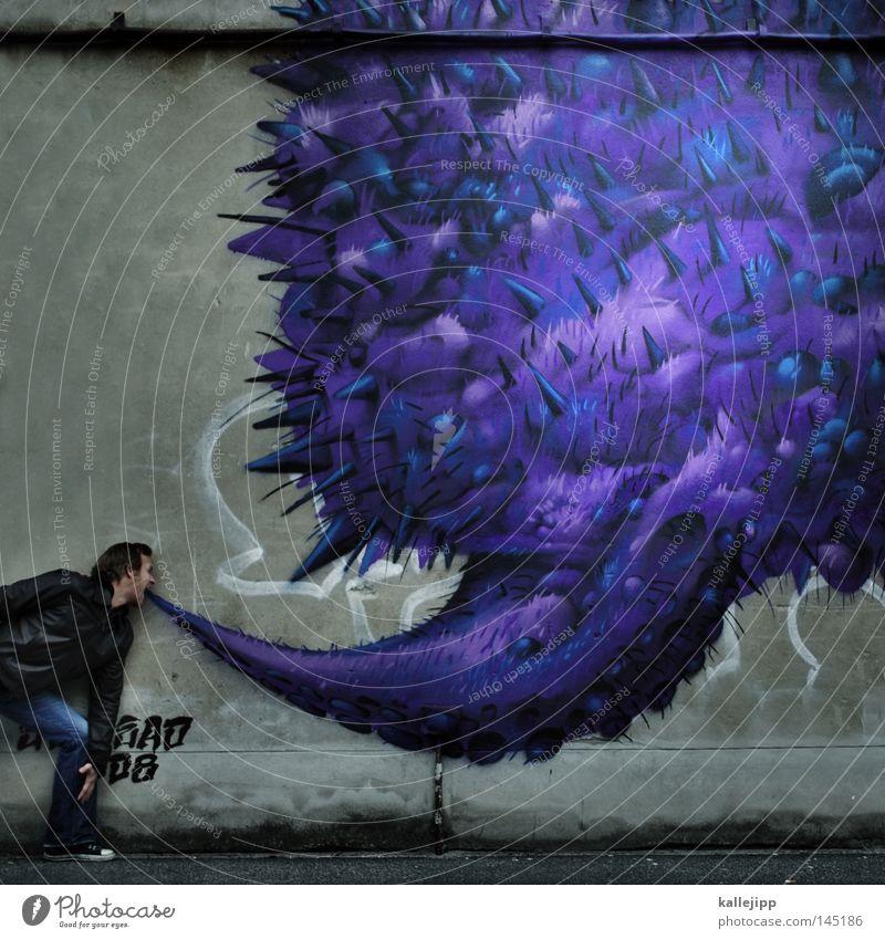 tröpfcheninfektion Mensch Mann Ernährung Graffiti sprechen Kopf lustig Brand Wassertropfen Kommunizieren Telekommunikation Tropfen Hut Krankheit Werbung Jacke