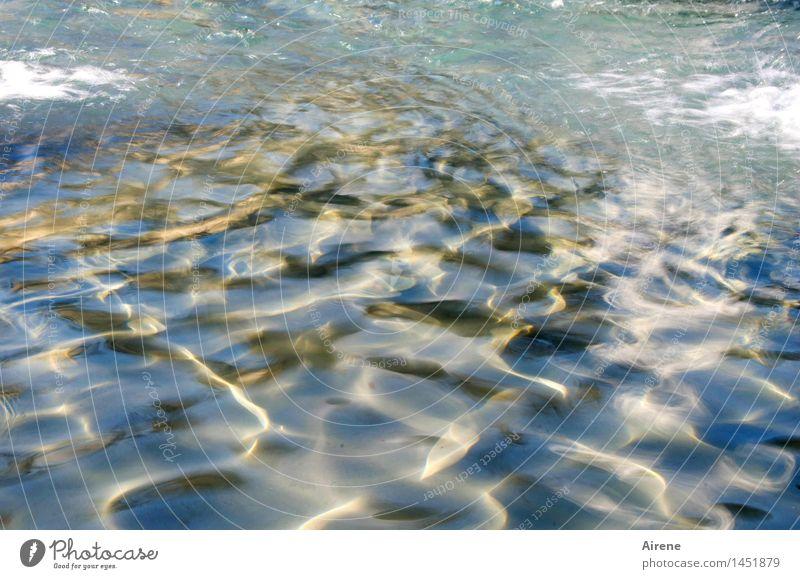 Imago blau Wasser weiß kalt Bewegung hell glänzend frisch Wellen gold Sauberkeit Urelemente Brunnen rein Flüssigkeit Leichtigkeit