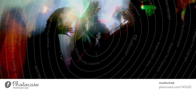 diskodisko! Mensch Freude Bewegung lustig Menschengruppe springen Party Stil Lampe Beleuchtung Feste & Feiern Musik Tanzen leuchten Lifestyle Kultur