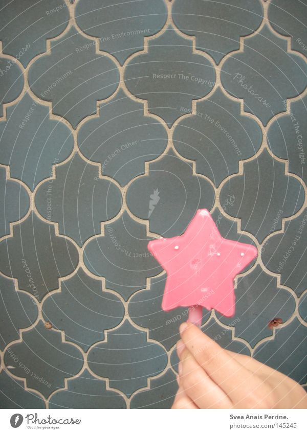 Baby,Eis wie am Stiel!!! blau Hand Wand Mauer Stil rosa Lebensmittel Ernährung Speiseeis Stern (Symbol) süß Stengel türkis lecker Süßwaren Zucker
