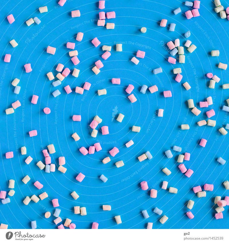 Mini Marshmallows blau Farbe Freude Essen klein Lebensmittel Fröhlichkeit ästhetisch Ernährung süß viele lecker Süßwaren Zucker ungesund Genusssucht