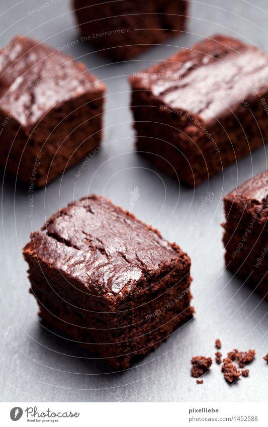 Brownies für alle! Lebensmittel Teigwaren Backwaren Kuchen Dessert Süßwaren Schokolade Ernährung Kaffeetrinken Fingerfood Gesunde Ernährung Wellness Wohlgefühl