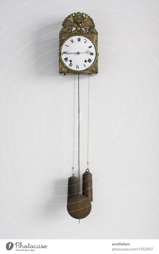Die Zeit rast Design Wohnung Uhr Wanduhr Kunst Ausstellung Museum Kunstwerk Zeichen Ziffern & Zahlen Schnur Uhrenzeiger Römische Zahlen Stundenzeiger