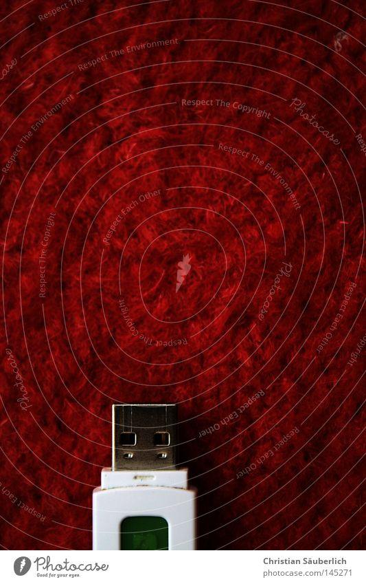 Plug Your Carpet [Red Edition] Schnittstelle rot weiß Anschluss Datenträger Teppich Faser Technik & Technologie Unix Mac OS X Elektrisches Gerät Internet E-Mail