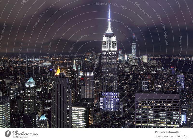 Glitzer Manhattan Ferien & Urlaub & Reisen Stadt Wolken Haus Umwelt Architektur Gebäude Business glänzend Tourismus Büro Hochhaus Erfolg Beton Bauwerk