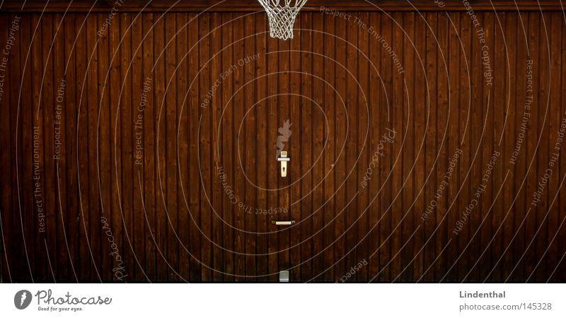 Garagen Ball Spielen braun Beleuchtung Tanne Korb Basketballkorb Ballsport