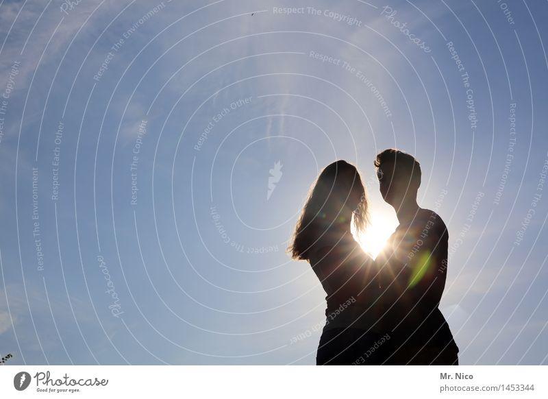 sommer,sonne,sonnenschein Ferien & Urlaub & Reisen Sommer Sonne Frau Erwachsene Mann Paar Partner Leben 2 Mensch Wolkenloser Himmel Schönes Wetter langhaarig