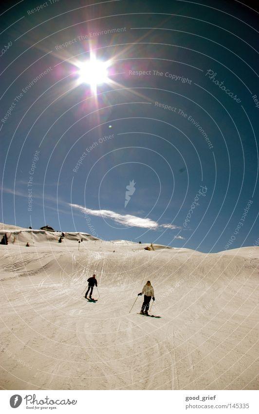 ich freu mich auf den winter. Himmel alt blau Sonne Wolken Winter Berge u. Gebirge Schnee grau Italien retro Schönes Wetter Alpen Skifahren Frankreich abwärts